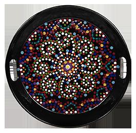 Boulder Mosaic Mandala Tray