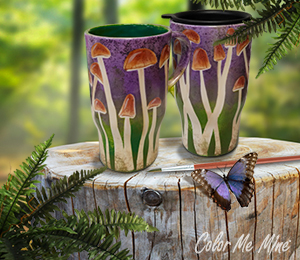 Boulder Mushroom Mugs