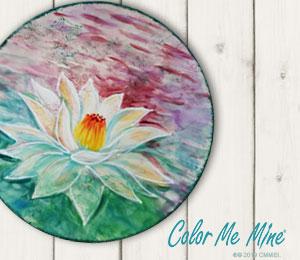 Boulder Lotus Flower Plate
